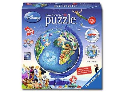 【Ravensburger-3D立體拼圖-180片】迪士尼地球儀Disney Globe