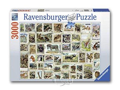 【Ravensburger拼圖-3000片】動物郵票集錦Animal Stamps