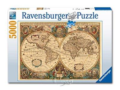 【Ravensburger拼圖-5000片】歷史世界地圖Historical World Map