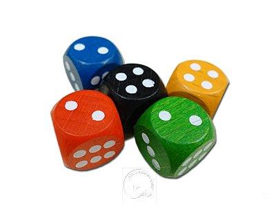 木質骰子1顆(顏色隨機)-滿300元贈品