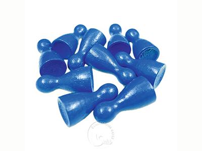 木質彩色人偶 - 藍色-10個入-24mm高