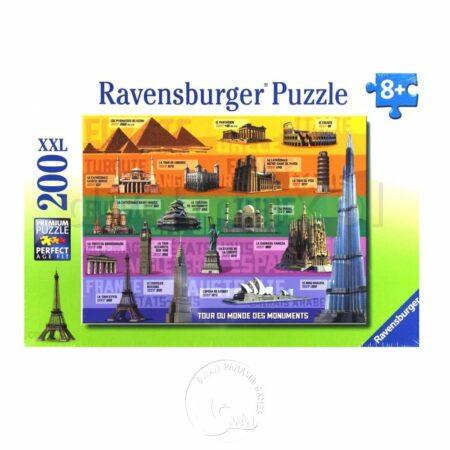 【Ravensburger-大拼片拼圖-200XXL片】環遊世界Dookoła Świata