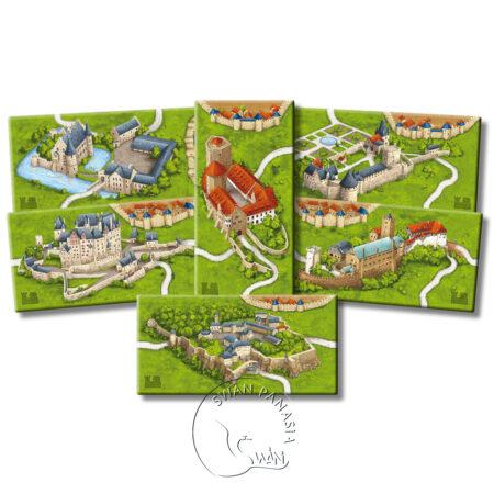 卡卡頌2.0德國城堡擴充 Carcassonne2.0 Burgen in Deutschland-德英文版